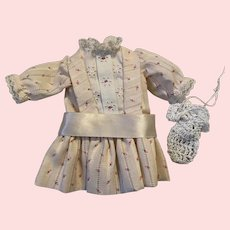 Dress and Draw String Purse for Bleuette Dolls