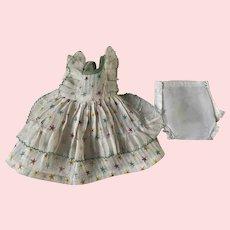 Vogue Dora Lee Organdy Dimity Print Dress for Composition Dolls 1930s