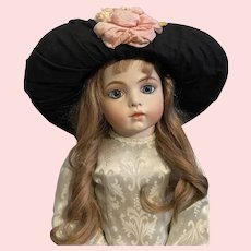 Large Showy Picture Hat for Large Bisque Dolls