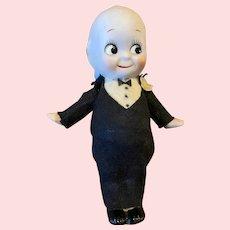 Vintage 5 inch Bisque Kewpie Doll Groom
