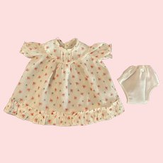 Floral Dress for Baby and Toddler Dolls 1930s