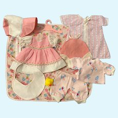 Nine Piece Layette for American Character Tiny Tears and Friends 1950s