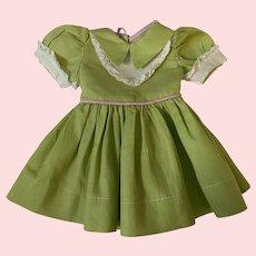 Pique Dress for Hard Plastic Dolls 1950d