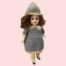 """Antique 9"""" AM 390 Mignonette Doll"""