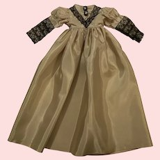 Lovely Taffeta Gown for China Head Dolls