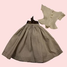 Antique Blouse and Skirt for Bisque and China Heads