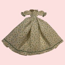 Calico Print Dress for Small China Heads