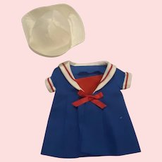Nautical Dress and Hat for Composition Dolls