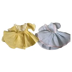 Two Dresses for Hard Plastic and Composition Dolls 1950