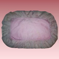 Pink Mattress and Sham for Large Dy-Dee Baby Trunk 1940s