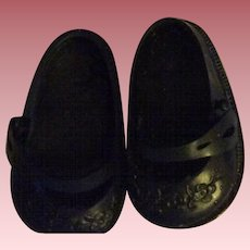HTF Black Embossed Ideal Shoes and Socks 1950s