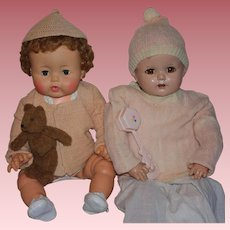 Two Sweater Sets for Big Baby Dolls 1940s
