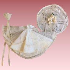 Complete Bridal Ensemble for Small Fashion Dolls 1950s
