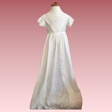 Antique Ayrshire Lace Exquisite Christening Gown 1840