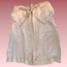 Antique Pink Silk Baby Robe for Big Baby Dolls 1910