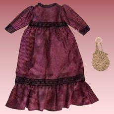 Antique Taffeta Dress for Bisque Dolls