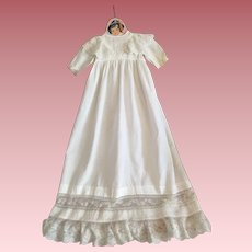 Antique Christening Gown and Bonnet for Large Bisque Dolls 1900