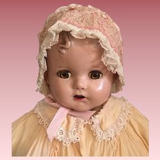 Beautiful Silk Pink Satin Bonnet for Big Babies