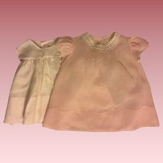 Pink Real Baby Dress and Slip 1940