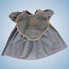 Blue Dress and Bib for Effanbee Dy-Dee Lou 1950s
