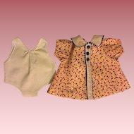Print Dress and Chemise for Composition Dolls 1930s