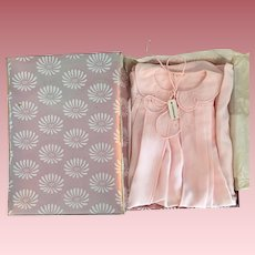 Mint in Box I. Magnin Pink Silk Baby Robe 1950s