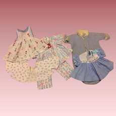 Seven Piece Layette for Tiny Tears and Friends in Blues 1950s