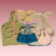 Six Piece Layette for Tiny Tears and Friends in Blues 1950s