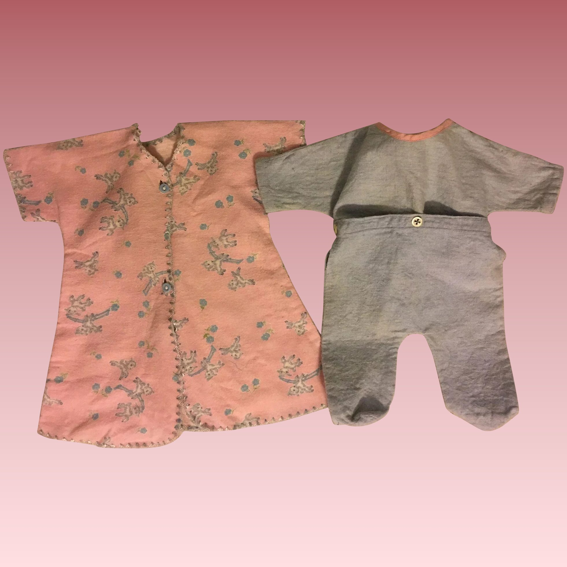 5f1895b390 Button-Together Footed Pajamas and Robe for Dy-Dee Doll and Friends ...