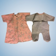 Button-Together Footed Pajamas and Robe for Dy-Dee Doll and Friends 1950s