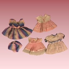 Layette of Dresses for American Character Tiny Tears Doll  and Friends 1950s