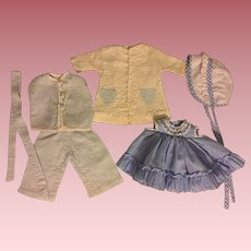Layette for Tiny Tears Doll and Friends in Blues 1950s