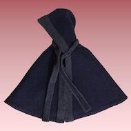 Blue Hooded Eiderdown Doll Cape 1940s