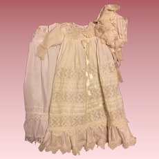 Three Piece Christening Gown for Bisque Baby Dolls