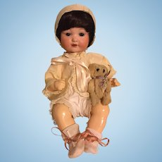 Silk Bonnet and Shrug for Bisque Babies 1910