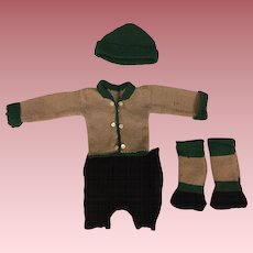 Sweater, Knickers, Hat, Socks for Boy Dolls Bisque or Composition Dolls 1920