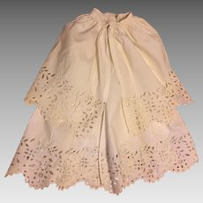 Beautiful Antique Baby Gown with Broderick Anglaise Lace and Matching Cape Coat