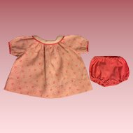 Pink and White Tulip-Print Dress for Composition Dolls 1930s
