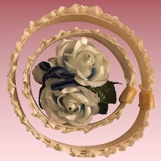 Circlet Flower Hat for Dolls 1950