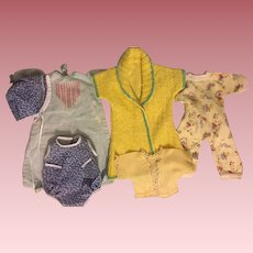 Six Piece Layette for Dy-Dee Baby and Friends 1950s