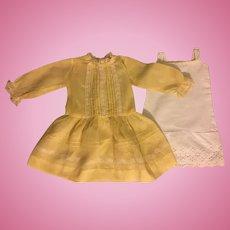 Lovely Antique Dress for Bisque Dolls 1910