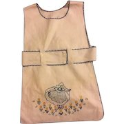 Vintage Child's Embroidered Apron