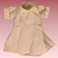 White Cotton Romper for Bisque Babies