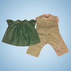 Dress and Two-Piece Outfit for Large Composition Dolls 1930s