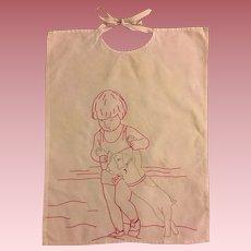 Antique Embroidered Baby Bib