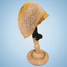 Crocheted Lovers Knot Bonnet