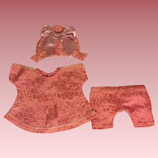 Three Piece Satin Outfit for Bisque Dolls