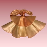 Peach Satin Ensemble For Small China Heads