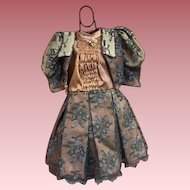 Lace and Satin Two Piece Dress For French or German Bisque
