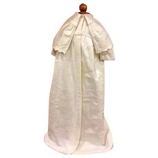 Antique Long White Christening Coat For Large Bisque or Composition Baby Dolls